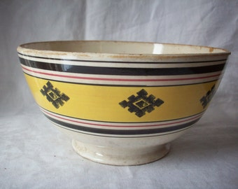 Antique Ironstone Footed Bowl, Imperiale Royale NIMY, Made in Belgium