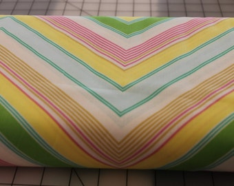 Heather Bailey Pop Garden Yellow, HB05, Zag Strip, Chevron, Cotton, Quilting, Apparel Fabric, Yard, 1/2 Yard, Fat Half, Sewing Supplies