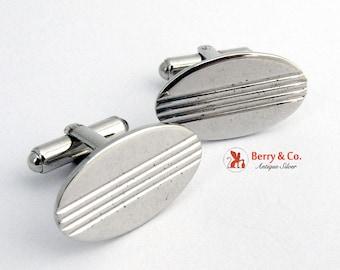 Oval Cuffling Sterling Silver