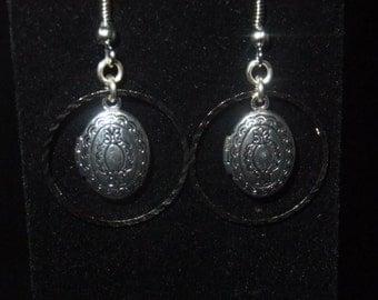Ringed Locket Earrings