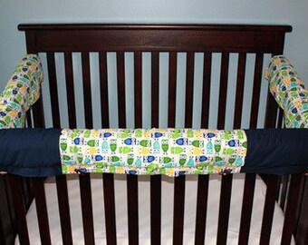 3 Piece Padded Crib Rail Covers - Boy
