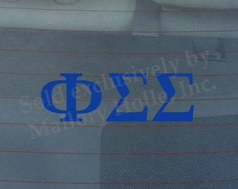 "Officially Licensed Phi Sigma Sigma 8"" x 3"" Bumper Sticker / Window Decal"