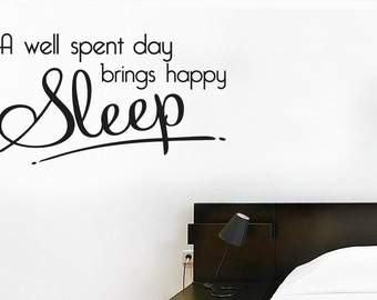 A Well Spent Day Brings Happy Sleep Wall Sticker