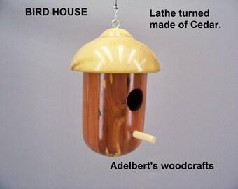 Outdoor Bird Houses Full Size Lathe Turned