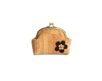 Eco Friendly Cork Pouch - Make Up Purse -  Gift for Her