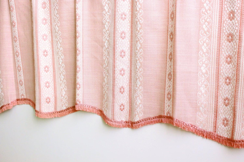 vintage rideau su dois avec franges une jupe longue motifs. Black Bedroom Furniture Sets. Home Design Ideas