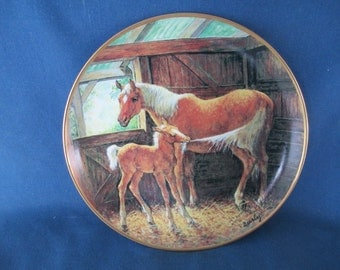 Vintage Franklin Mint Pony Tales Porcelain Decorative Horse Plate Limited Edition Collectible Home Decor