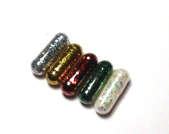 Glitter Pills, Glitter Pill, Christmas Colors, 10 Pills, Unique Gift, Reindeer Poop, Funny Gift, Gag Gift, Raver Gift, Girl Gift, Craft Gift