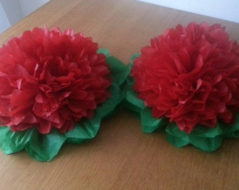"2 14""  wedding Christmas table centrepieces baby shower party decorations tissue paper pom poms"