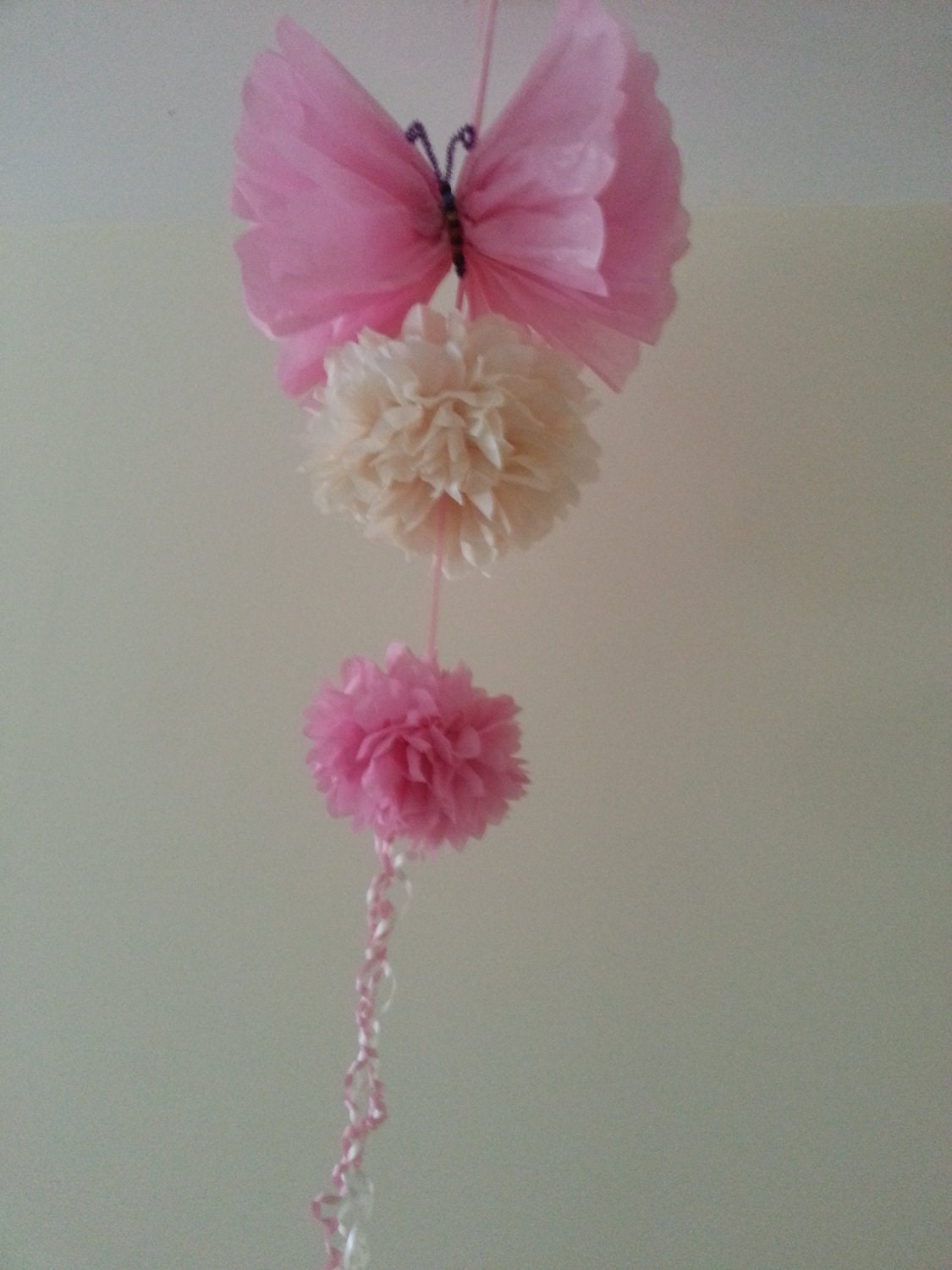 Party wedding hanging ceiling decorations tissue paper pom for Hanging pom poms from ceiling
