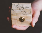 "READY TO SHIP - Rustic style engagement ring box ""Be Mine"" - Wedding box, wooden box, engagement, gift ideas, valentine, missvintagewedding"
