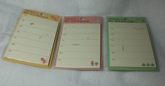 Weekly Calendar Sticky Notes : Items similar to sticky notes post it weekly