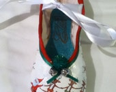 Jingle Belle  ... Decorated Pointe Shoe
