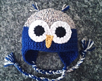 Owl Hat with Ear Flaps