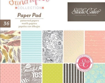 "American Crafts Studio Calico Sundrifter 6"" X 6"" Paper Pad"