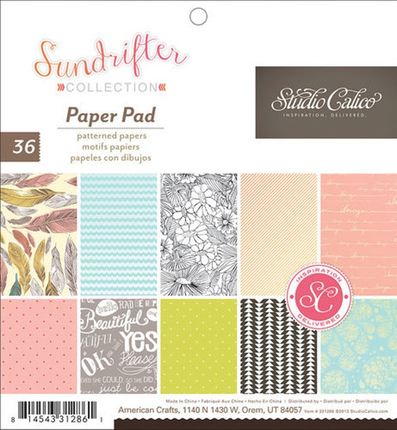 American Crafts Studio Calico Sundrifter 6 X 6 by PaperStockist