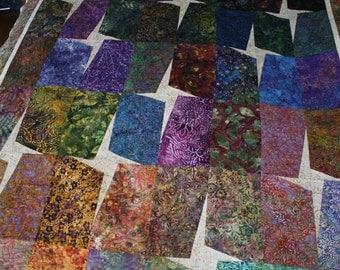 Batik Fabric Star Quilt