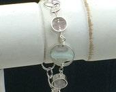 Beach Glass Treasure© Bracelet // Rare Beach Glass Bracelet //  Beach Glass Bracelet  // Hawaii Beach Glass Bracelet // .925 and fine silver