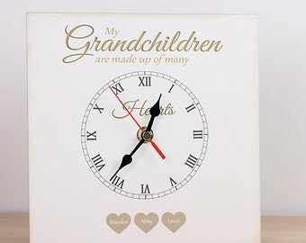 Our grandchildren are made up of many hearts Red Brown UK Seller