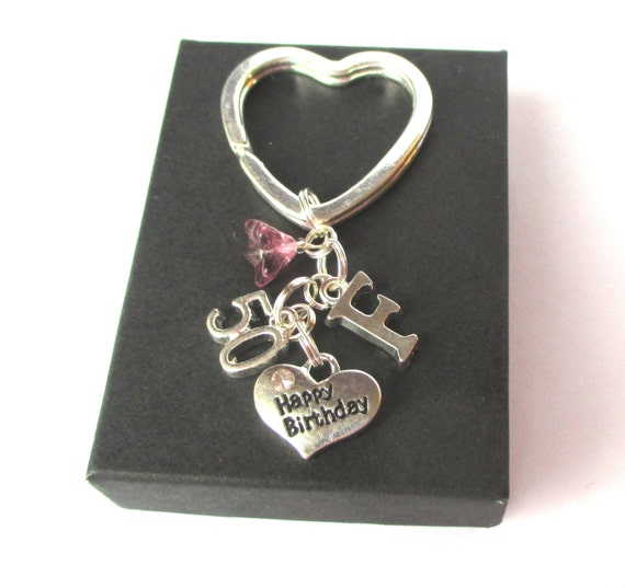 Personalised 50th Birthday Keyring By DoodlepopDesigns On Etsy