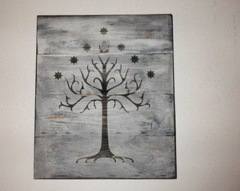 Tree of Gondor Wall Hanging -- Lord of the Rings Home Decor / LOTR wall hanging / wood sign