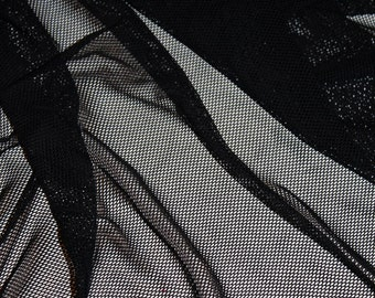 Top Quality 4 wat stretch Black Fishnet fabric  | price per Yard