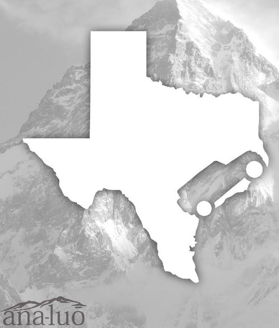 Wrangler Texas Decal ANY STATE- 48 From Analuo On Etsy Studio