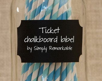 Ticket Reusable Chalk Labels - Chalkboard Stickers to Organize Personalize Entertain - Simply Remarkable LIGHT