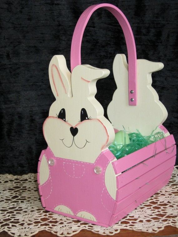 handmade easter baskets personalized handmade wooden children s easter by 5537