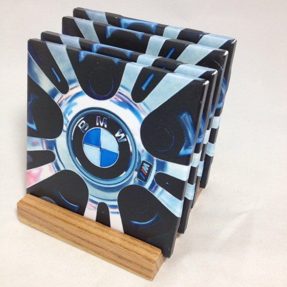 Handmade Bmw Drink Coasters Set Of Four The