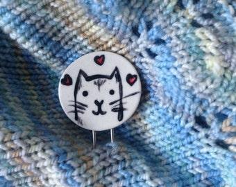 Cat Shawl and Hair Pin