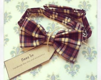 Mens bow tie tartan, wool bow tie, tartan bow tie, plaid bow tie