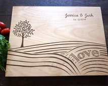 Harvest Love Cutting Board Modern Farmer Country Living Personalized Cutting board, Rancher Wedding Holiday Gift Bridal Shower Present