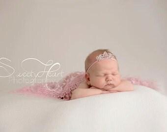Princess Newborn Headband Rhinestone Crown Tiara Newborn Photo Prop