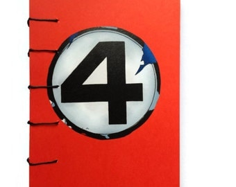 Fantastic FOUR coptic stitched Journal RED