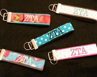 Custom Embroidered ZTA Wristlet Keyring