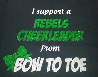 I support a cheerleader from bow to toe!