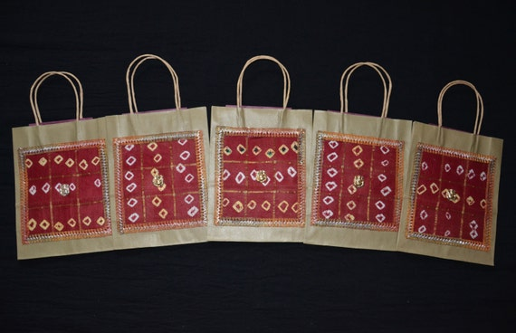 Indian Wedding Gift Bags For Guests : Gift Bags, Indian Wedding Gift Bags, Kraft Gift Bags, Red silk Bags ...