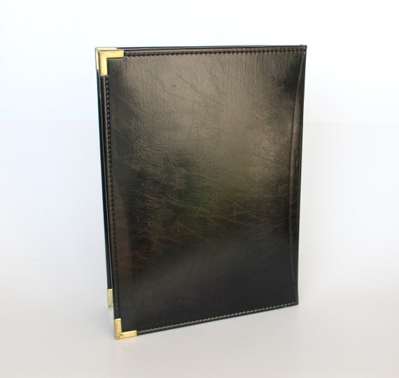 vintage cambridge vinyl leather portfolio case black us
