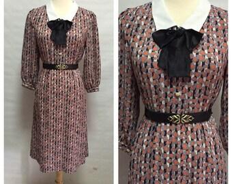 Vintage Margaret Bow Tie Secretary dress/ medium