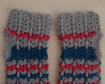Crochet Hand Warmers,Winter Fingerless Gloves,Wool Mitten,Handmade Gloves, Wrist Warmers,Fingerless Mittens