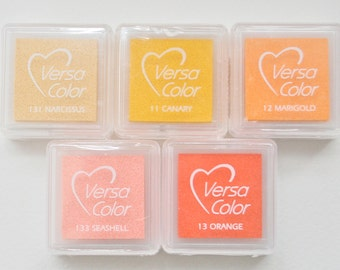Versa Color Ink for Stamping Yellows, Oranges, Reds & Browns