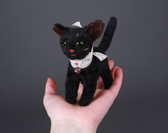 Kiara the Black Cat Miniature Plush Doll
