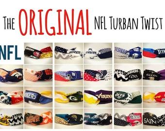 NFL Turban Twist Headband (The ORIGINAL & Number 1 Selling NFL Turban Twist Headband) / Super Bowl / Atlanta Falcons / New England Patriots