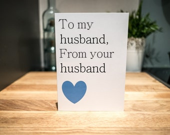 Gay Blank 'Husband' Card