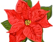 Red Poinsettia Clip Art, poinsettia clipart, holiday clipart, Christmas clip art, Christmas clipart, holiday clipart, floral clipart
