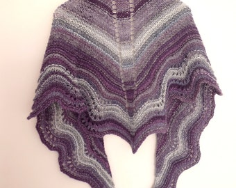 Tarantos, knitted shawl in gradient colors