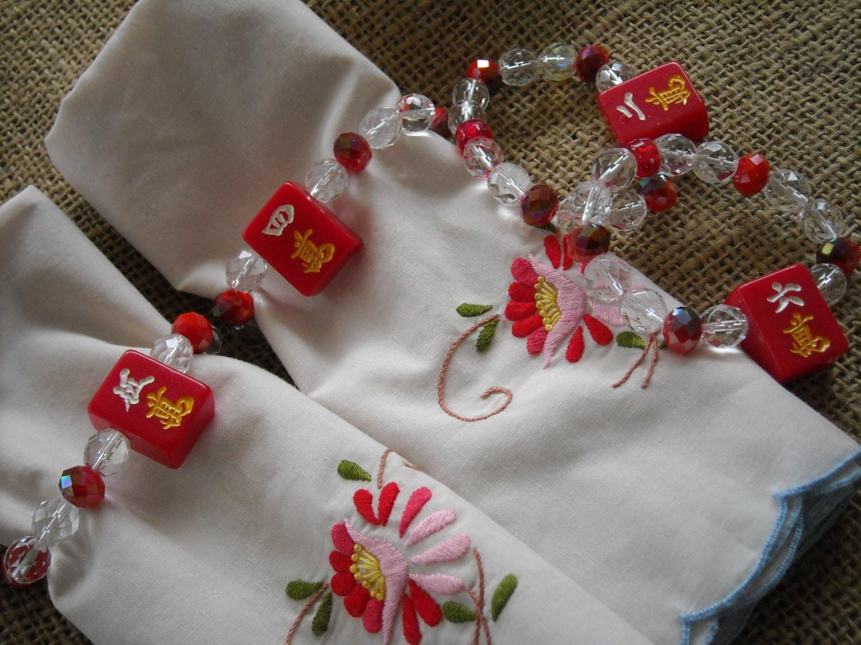 Asian inspired napkin rings