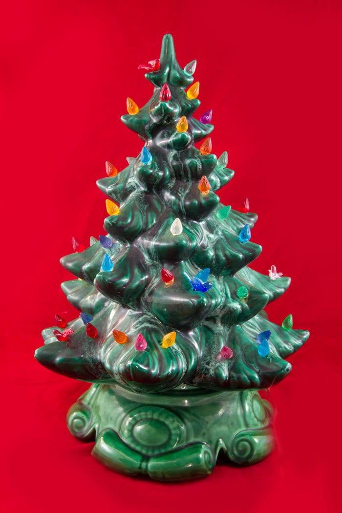Vintage Ceramic Christmas Tree With Lights