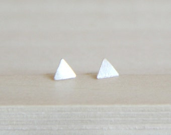 Sterling Silver small triangle Ear posts. Everyday Earrings